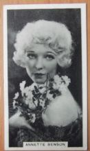 Annette Benson, Cigarette Card, Godfrey Phillips, Cinema Stars, 1930 card #11